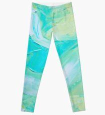 Turquoise Impasto Leggings