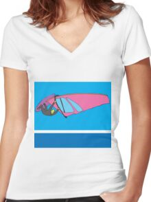 The air up there... Women's Fitted V-Neck T-Shirt
