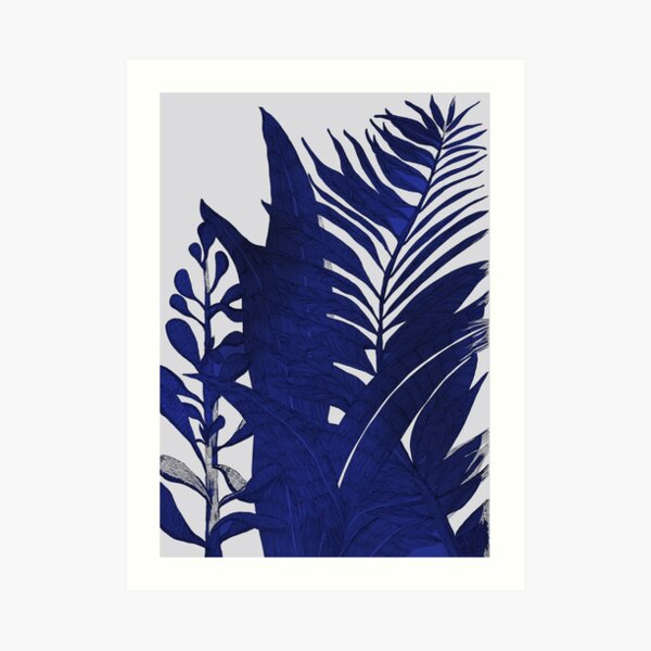 blackandblue Art Print