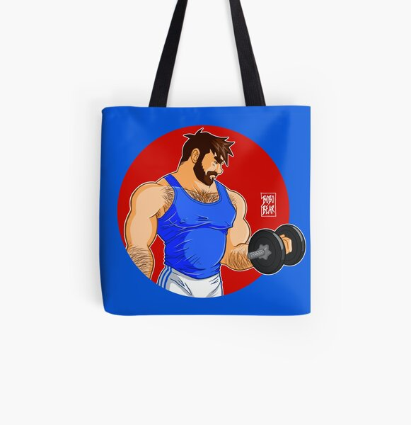 ADAM LIKES WORKINGOUT All Over Print Tote Bag