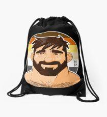ADAM LIKES HEAD - BEAR FLAG VERSION Drawstring Bag