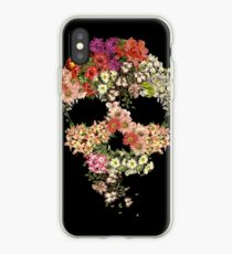 Skull Floral Decay iPhone Case