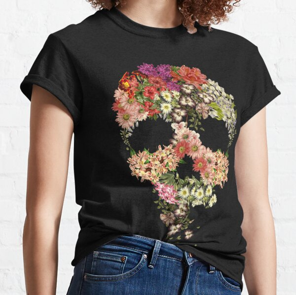 Skull Floral Decay Classic T-Shirt