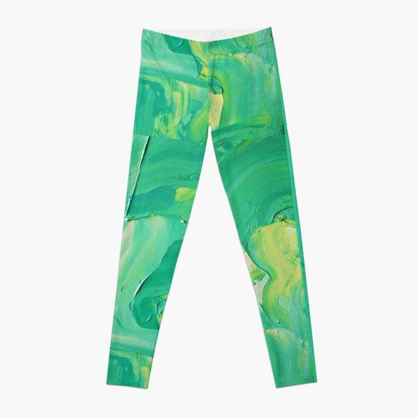 Bright Green Impasto Leggings
