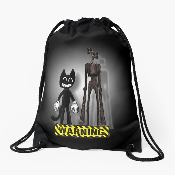 Sirenhead Siren Head Creepy Horror Character Are you afraid Drawstring Bag