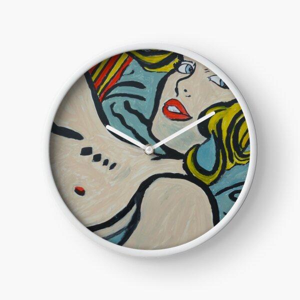 'Blue Cushion' Clock