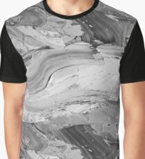 Monochrome Impasto Graphic T-Shirt