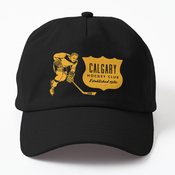 Vintage Hockey - Calgary Flames (Yellow Calgary Wordmark) Dad Hat