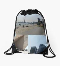 Photo collage Rotterdam 4 Drawstring Bag