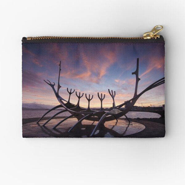 The Viking Ship Zipper Pouch