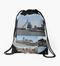 Photo collage Rotterdam 3  Drawstring Bag