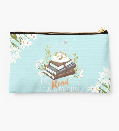 Eat, Read and Be Merry with Snow Globe Studio Pouch