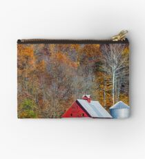 Autumn Red Barn and Hillside Studio Pouch