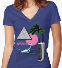 BUSINESS CLASS '84 COLLECTION Women's Fitted V-Neck T-Shirt