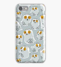 Snowy Owls pattern (Bubo scandiacus) iPhone Case/Skin