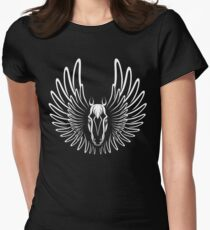 Pegaso (White on Dark version) Women's Fitted T-Shirt