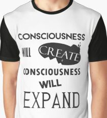 Spiritual Tees: Consciousness Quote Graphic T-Shirt