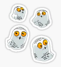 Snowy Owls pattern (Bubo scandiacus) Sticker