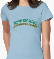 Pawnee Goddesses Leslie Knope Women's Fitted T-Shirt