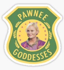 Pawnee Goddesses Leslie Knope Sticker