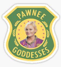 Pawnee Goddesses Leslie Knope Sticker