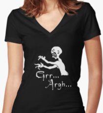 Grr... Argh... Women's Fitted V-Neck T-Shirt