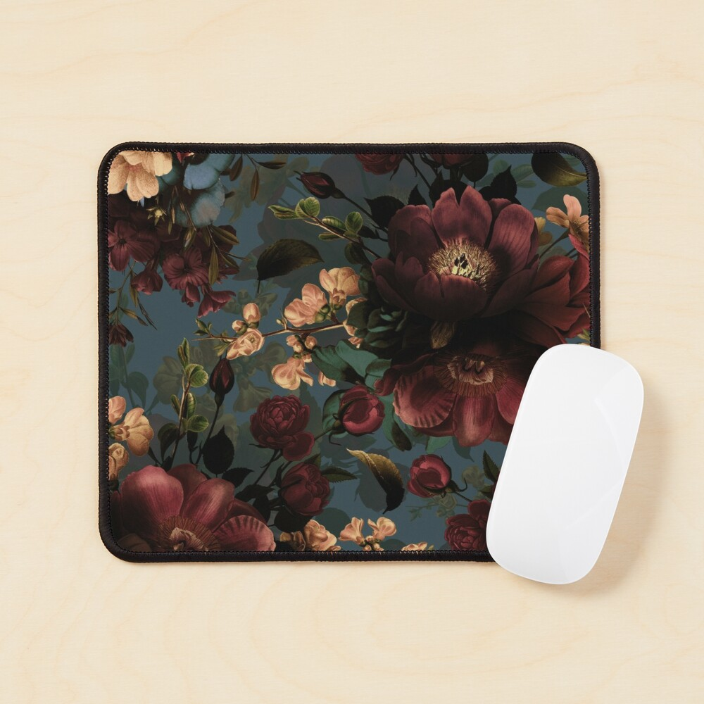 Moody florals - Mystic Night 10 Mouse Pad