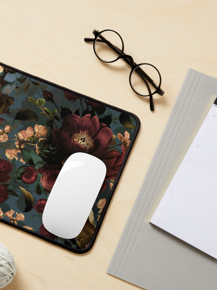 Alternate view of Moody florals - Mystic Night 10 Mouse Pad