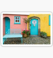 The colours of Portmeirion Sticker