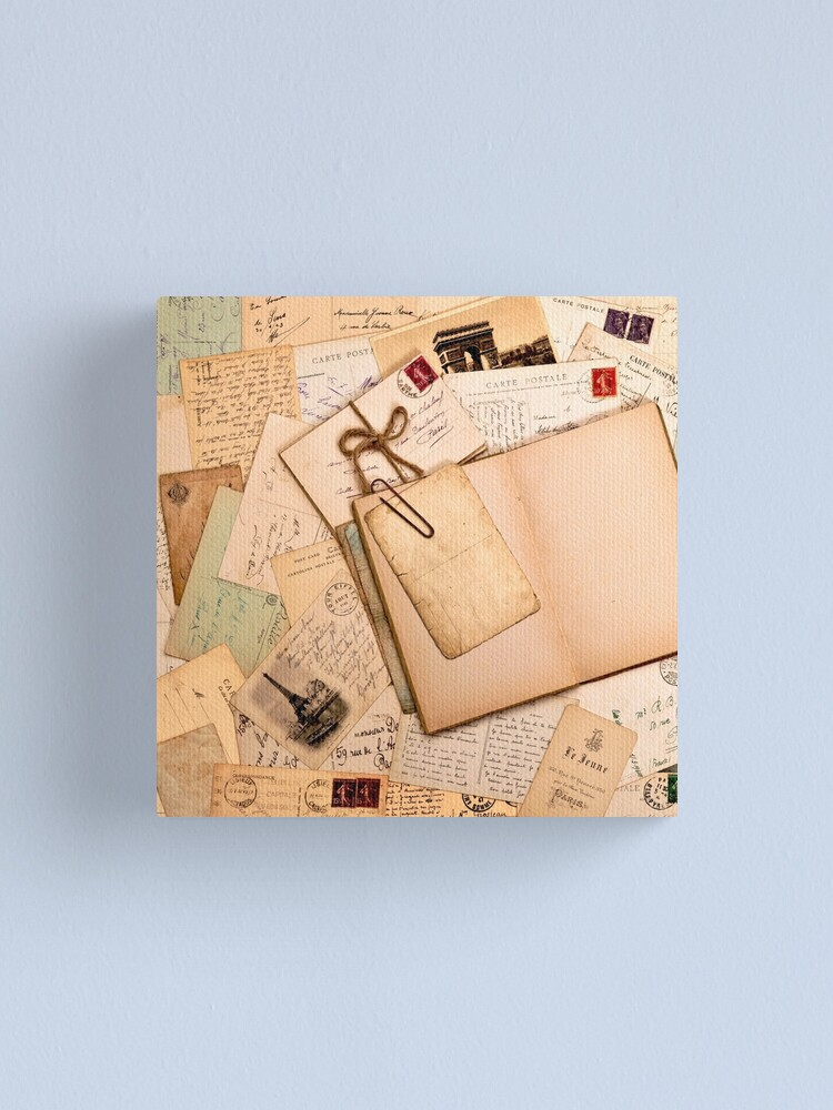Alternate view of Vintage letters and postcards 1 Canvas Print