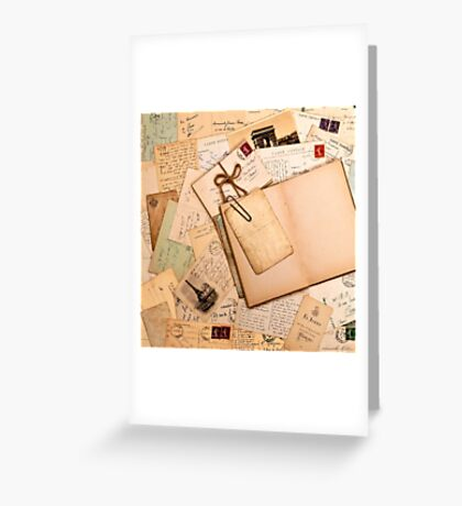 Vintage letters and postcards 1 Greeting Card