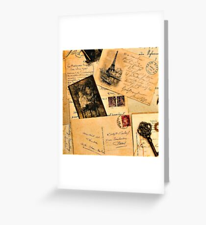 Vintage letters and postcards 2 Greeting Card