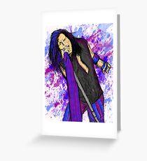 Steven Tyler Aerosmith Singer Greeting Card