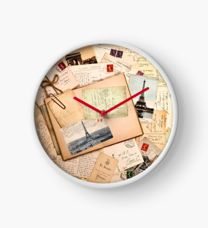 Vintage letters and postcards 3 Clock