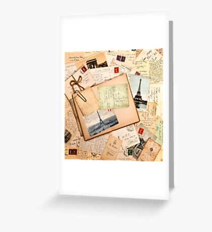 Vintage letters and postcards 3 Greeting Card