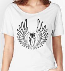 Pegaso (Black Version) Women's Relaxed Fit T-Shirt