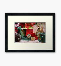 Winter holiday season background Framed Print