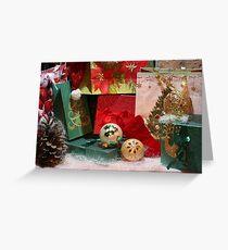 Winter holiday season background Greeting Card