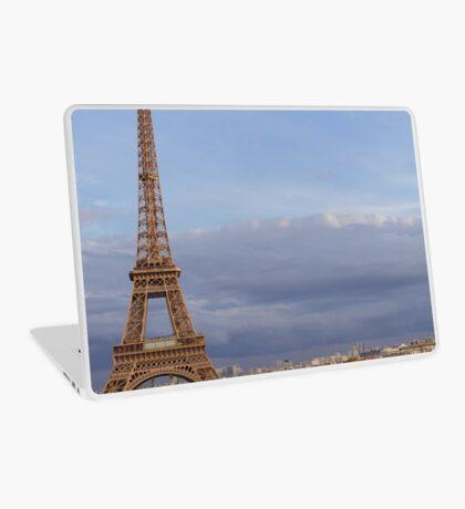Eiffel tower on a cloudy sky in Paris Laptop Skin