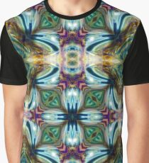 Teal Purple Abstract Geometric Psychedelic Graphic T-Shirt