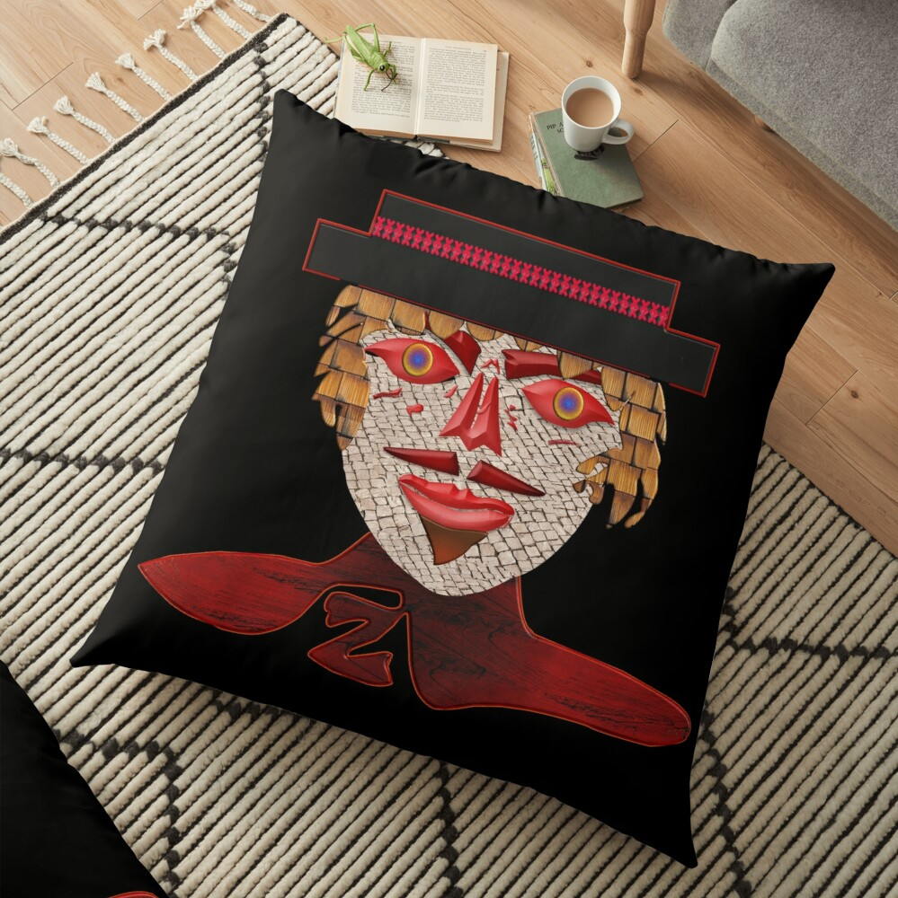 THE LEGEND OF ZORRO - MODERN AND COOL FACE PORTRAIT OF ZORRO - ZORRO HALLOWEEN - CHRISTMAS PARTY3  Floor Pillow
