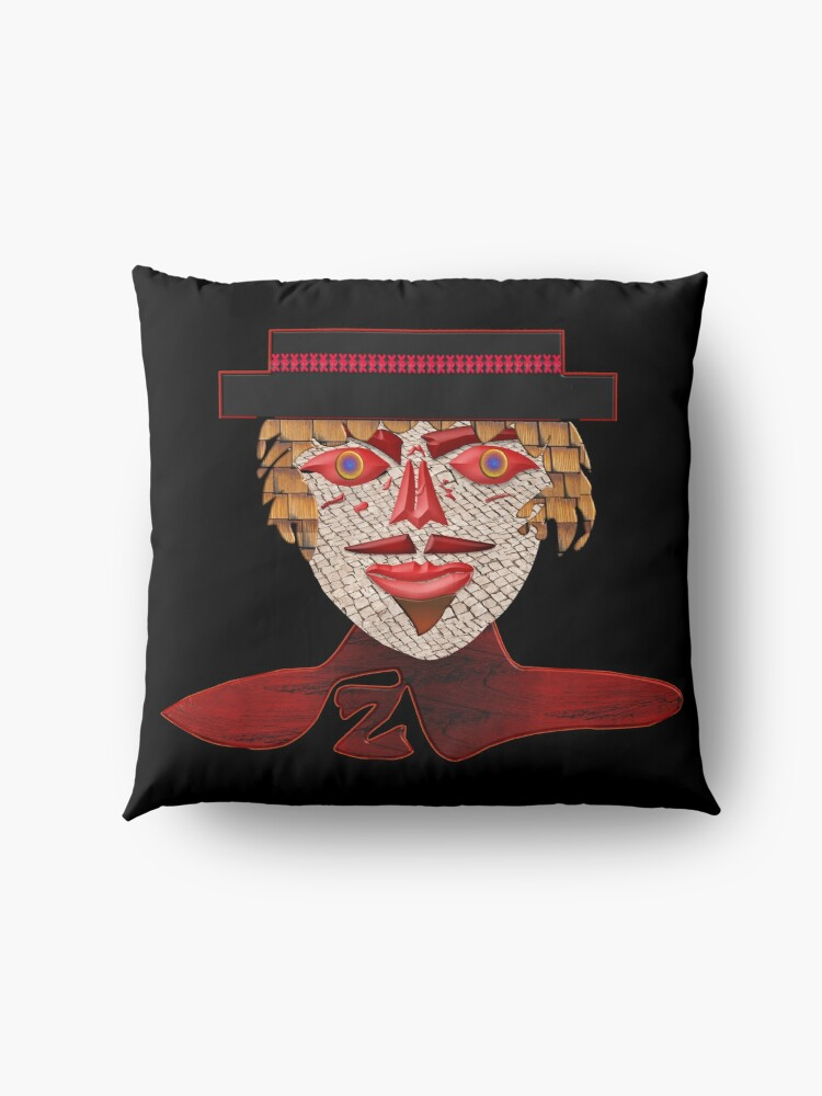 Alternate view of  THE LEGEND OF ZORRO - MODERN AND COOL FACE PORTRAIT OF ZORRO - ZORRO HALLOWEEN - CHRISTMAS PARTY3  Floor Pillow