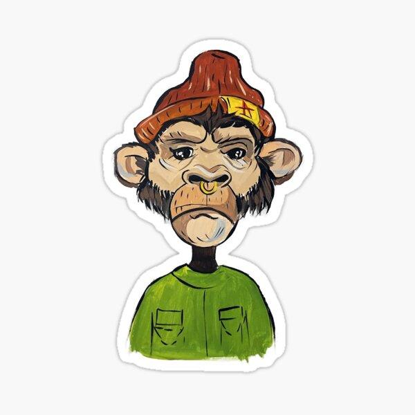 CryptoPunk Monkey Tees Sticker