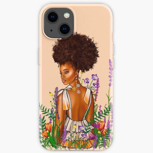Melanin Wildflower iPhone Soft Case