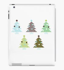 New! Christmas Trees set in geometrical clean style iPad Case/Skin
