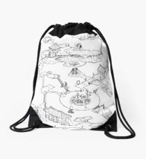 Purple Caverns Drawstring Bag