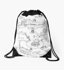 Purple Caverns Drawstring Bag