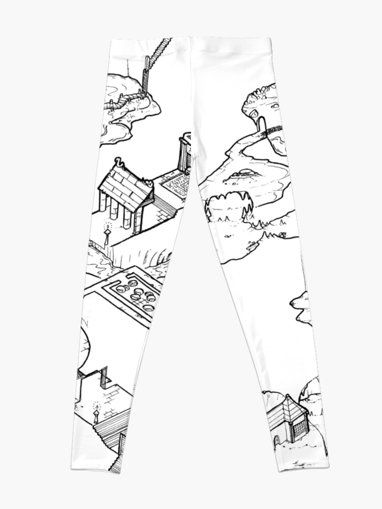 Alternate view of Purple Caverns Leggings