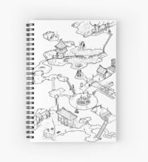 Purple Caverns Spiral Notebook