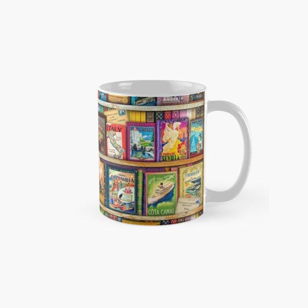 Travel Guide Book Shelf Classic Mug